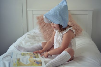 Unisex Brimmed Pixie Hat, Modern Bonnet - Size 0-3 Months to 5-10 Years