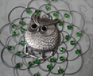 Beautiful antique silver owl