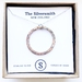 Sterling silver necklace and hammered circle  pendant