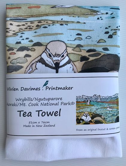 Wrybills Tea Towel - New Zealand Native Birds collection