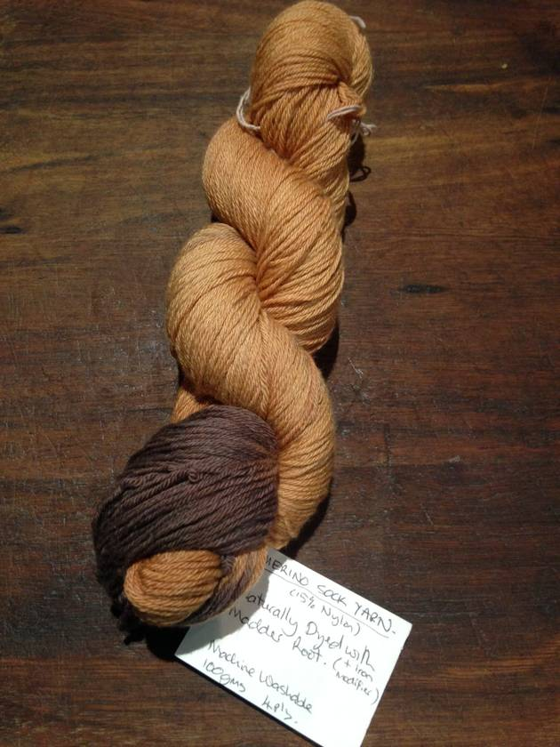 Sock Yarn - Naturally dyed with Madder Root