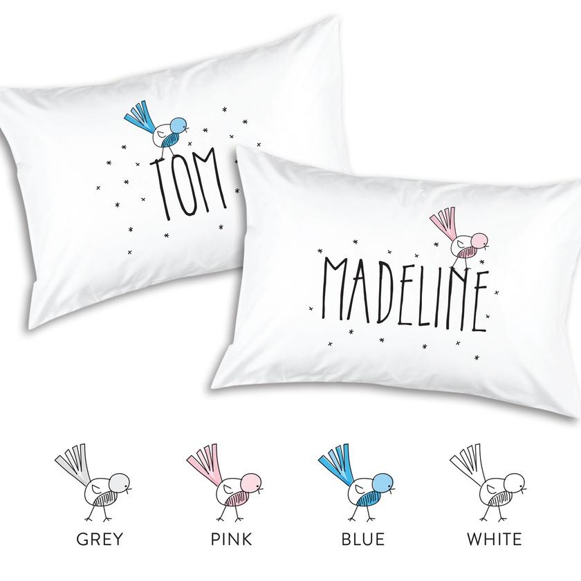 Little Bird Personalised Pillowcase