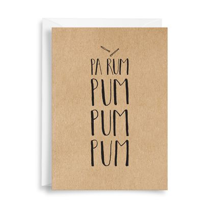 Greeting Card: Pa Rum Pum Pum Pum