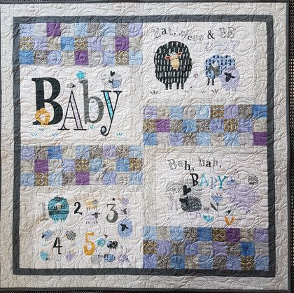 Sleep Baby Cot Quilt, throw, stroller cover, play mat, patchwork quilt