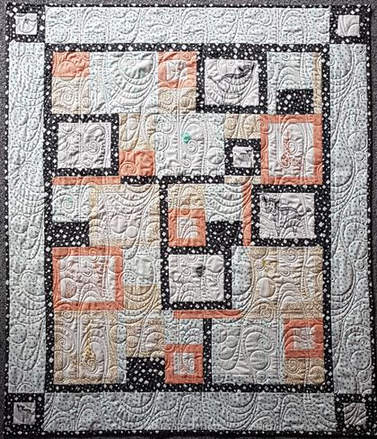 Savannah Cot Quilt, patchwork Quilt, bespoke piece, perfect gift, baby shower, handmade gift