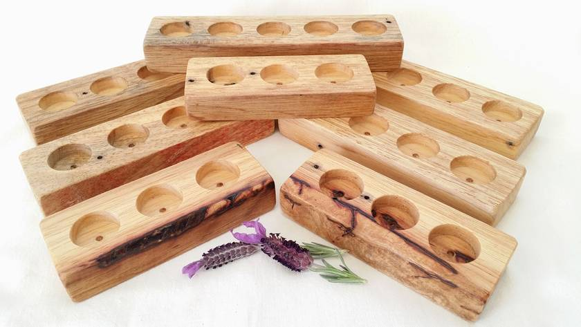 Essential Oil Holder - 10ml. Pick from 3, 4 or 5 hole