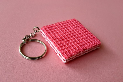 Pink Wafer keyring