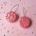 PRE ORDER – 100s & 1000s Biscuit Mega Hoop Earrings