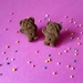 PRE ORDER – Chocolate Giggling Tiny Teddy Stud Earrings