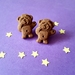 PRE ORDER – Chocolate Sleepy Tiny Teddy Stud Earrings