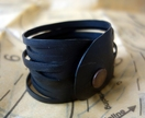 "Black bracelet ""ribbons"" cuff"