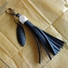 Tassel & feather key ring or charm, up-cycled
