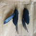 "Multi ""feather"" earrings, up-cycled"