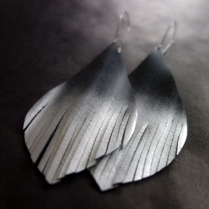 """Tear drops for Christchurch"" earrings, up-cycled"