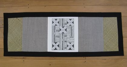 SLATE coloured small runner/ centre piece