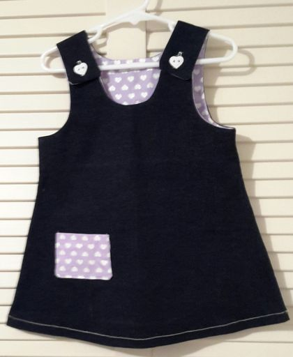 Denim Pinafore.  12-18 months