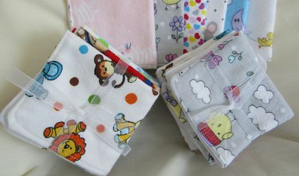 Baby Wash Cloths - Pack of 4.