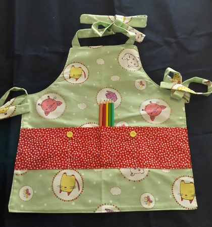 Childrens Aprons 2-4 Years. 3 styles