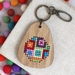 Mod Blocks Keyring  ~ Modern DIY Embroidery Kit