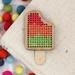 Traffic Light Ice Block Magnet ~ Modern DIY Embroidery Kit