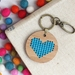 Blue Heart Keyring  ~ Modern DIY Embroidery Kit