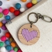 Purple Heart Keyring  ~ Modern DIY Embroidery Kit