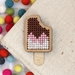 Jelly Tip Neapolitan Ice Block Brooch ~ Modern DIY Embroidery Kit