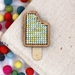 Lemon & Lime Ice Block Magnet ~ Modern DIY Embroidery Kit