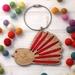 Piwakawaka Silk Ribbon Ornament Kit ~ Modern DIY Embroidery Decoration