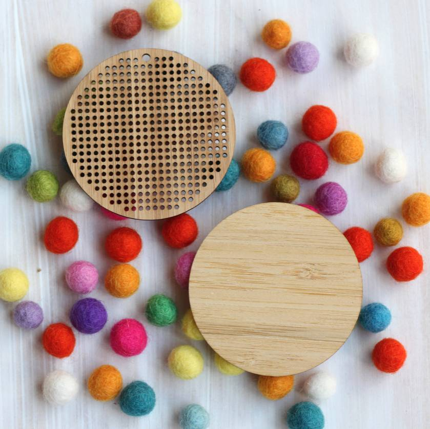 Blank Bamboo Round Cross Stitch Blank  ~ Modern DIY Embroidery