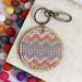 Candy Chevron Keyring  ~ Modern DIY Embroidery Kit