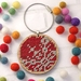 Red Snowflake Stitched Ornament Kit ~ Modern DIY Embroidery Decoration
