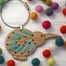 Silk Ribbon Kiwi Ornament Kit ~ Modern DIY Embroidery Decoration