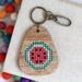 Watermelon Keyring  ~ Modern DIY Embroidery Kit