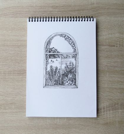 Arched Window Sea View