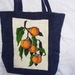 tote with real tapestry panel