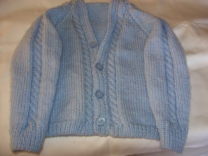 Hand knit cardigan 60cm chest