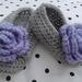 Pretty Lilac Rosette Slippers