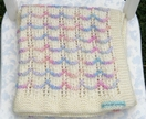 Pastel Scallop Baby Blanket