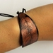Custom Leaf Cuf Bracelet , Upcycled Vinyl Records, Copper, Contemporary Sustainable Jewellery