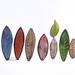 Custom Recycled Earrings , Medium Leaves, Contemporary Sustainable Jewellery