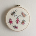 Pink and Peach Beetle Embroidery