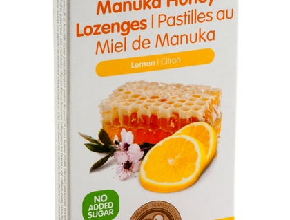 Manuka Honey Lozenges: Lemon (packet of 8 lozenges)
