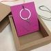 Circle + diamond link pendant necklace