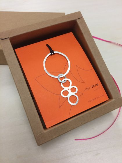 Circle + circles link pendant necklace