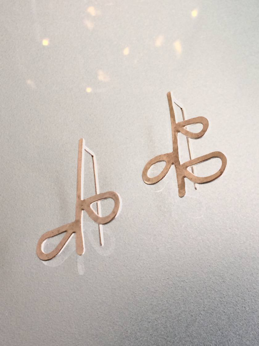 Sterling silver leaf sprig earrings with short tail backs