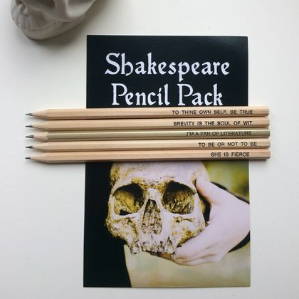 Shakespeare pencil pack