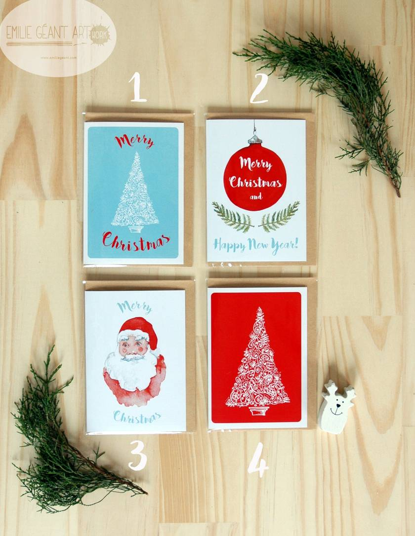 SALE - Christmas and New Year greeting cards