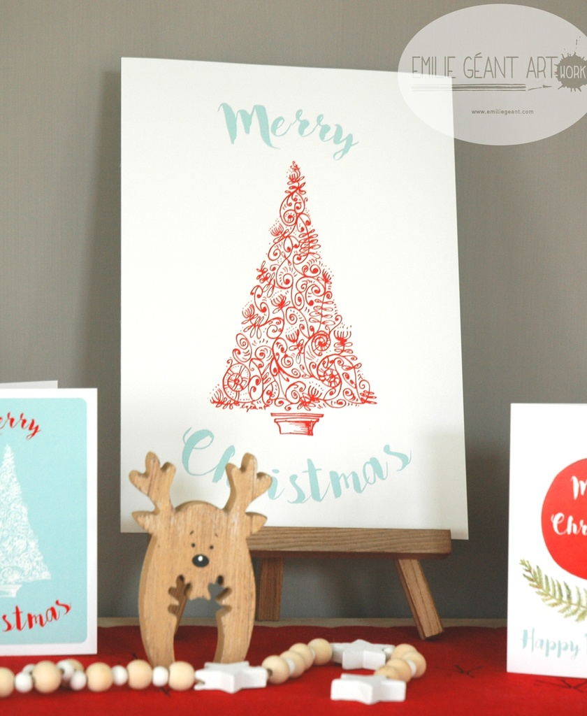 SALE - Christmas tree pattern A4 prints