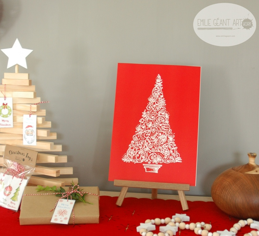 Christmas print A4